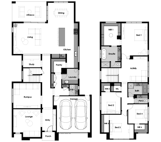 Floor plan for Hue 43