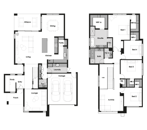 Floor plan for Mantra 40