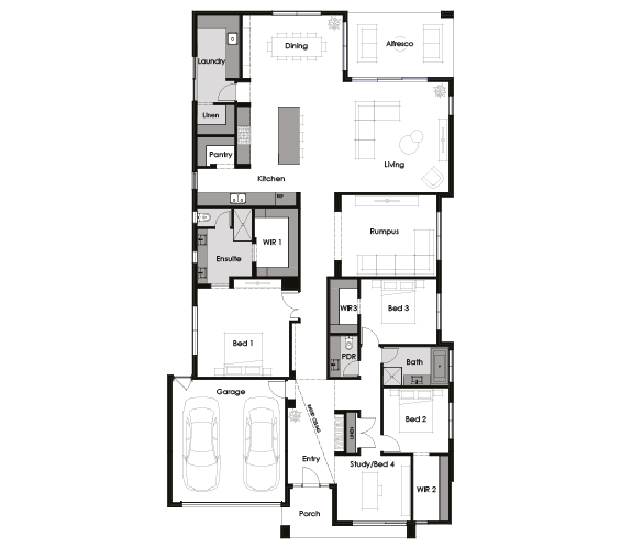 Floor plan for Matisse 34
