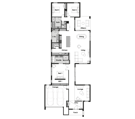 Floor plan for Velada 33